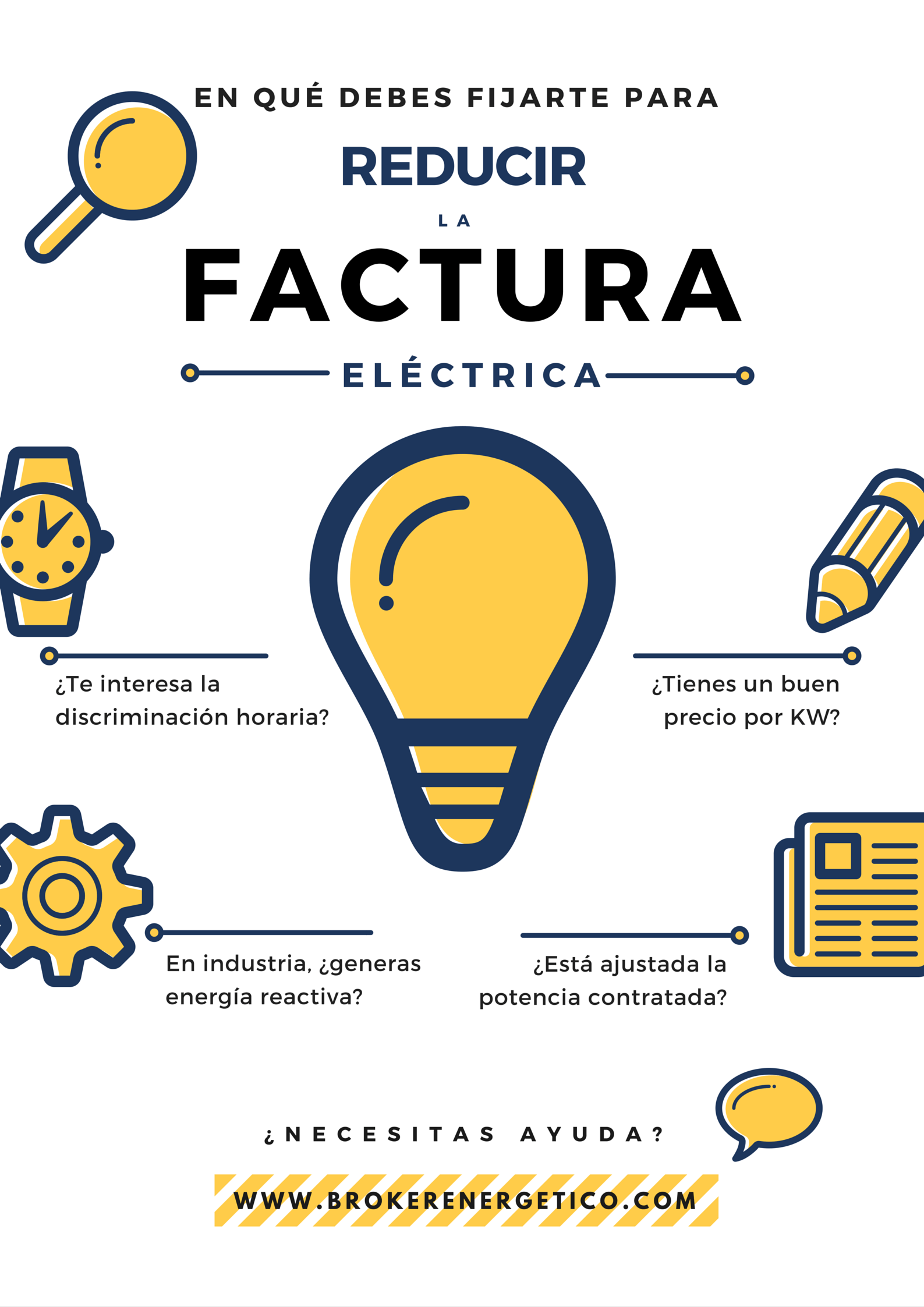 infografia reducir la factura eléctrica